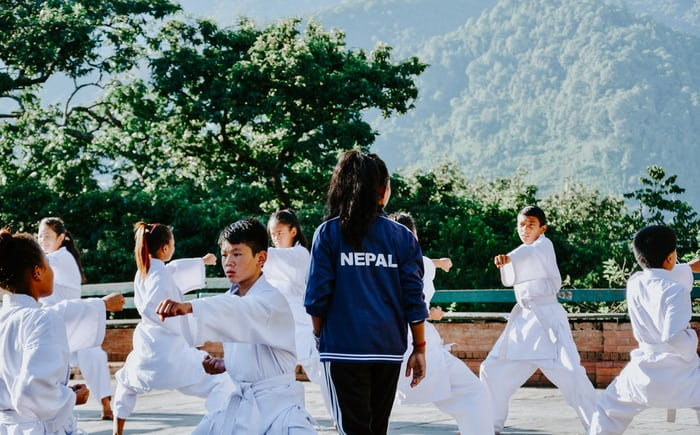 classified messages develop talent karate training